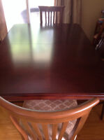 Cherry dining set 6 chairs