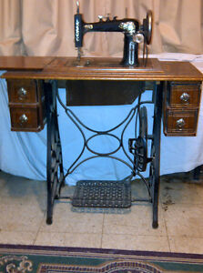 Antique Treadle Sewing Machine Regina Regina Area image 1