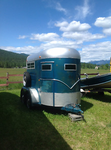 74 King two horse trailer.