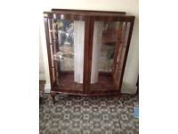Antique cabinet with key