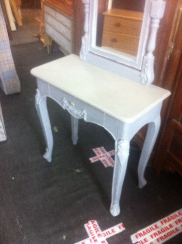 Grey painted dressing table