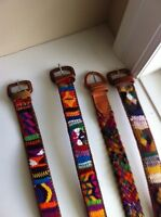 Hand crafted Guatemalan belts