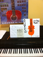 Music Lessons: Piano, Guitar, Bass Guitar or Violoncello.