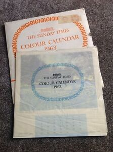 The Sunday times 1963 colour calendar Regina Regina Area image 2