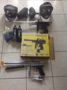 Paintball markers and equipment