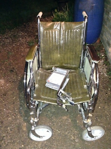 Excellent condition collapsible wheel chair for sale