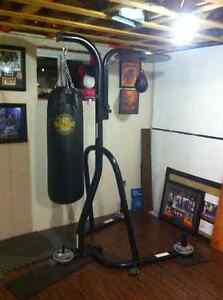 Heavy Bag with Free standing Stand and Speed bag set up
