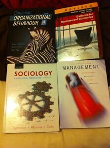 Sociology, management and stats textbooks for sale
