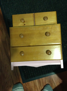 "Solid wood dresser for 18"" dolls for sale"