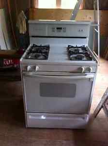 Kenmore white self-cleaning natural gas stove