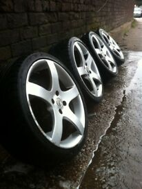 """17"""" Tsr alloy wheels 4x100 pcd £120 all used but in good condition few minor marks would benifit a"""
