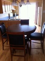 Kitchen table bar stool style leather chairs