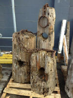 for sale log boom ends great for landscaping