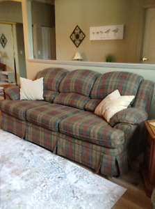 High back couch and chair