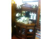 Antique / ornate mirrored sideboard : free Glasgow delivery