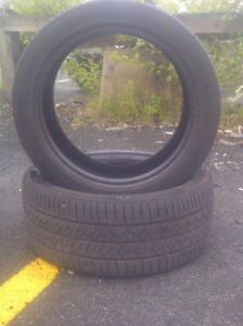 2 Continental tires 225/45/17 $65 OBO