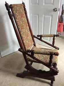 Antique solid oak rocking chair plus other chairs Kitchener / Waterloo Kitchener Area image 4