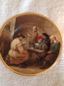 Old men Porcelain plate