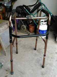 Excellent condition collapsible walker without wheels for sale