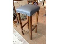 Solid wooden antique stool