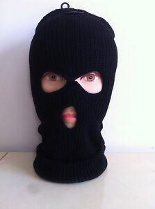 Men 3 Hole Face Mask Winter Beanie Ski Snowboard Hat Cap Wear Stylish Balaclava