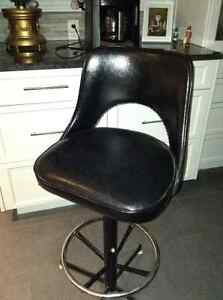Excellent condition high backed pleather bar stools for sale
