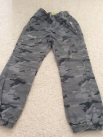 Boys camouflage trousers/jeans