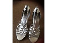 Silver shoes size 6 new look