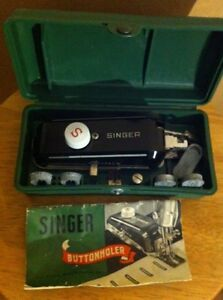 Vintage Singer sewing machine button holer