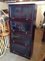 4 section Barrister bookcase - free delivery