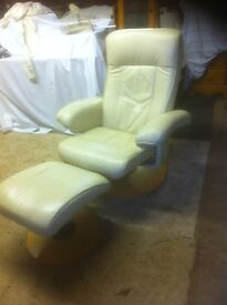 Stressless chair and foot stool