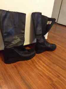 Leather and waterproof hush puppies