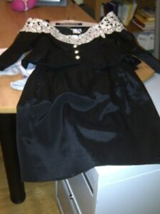 PERFECT FOR CHRISTMAS PARTY OR WEDDING. BLACK/WHITE 2 PIECE.