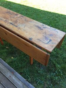 Antique table with drop leaf