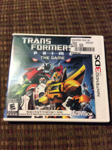 Transformers prime the game for Nintendo 3ds like new
