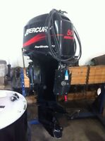 50 hp Merc outboard long shaft with controls