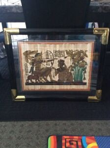 King tut papyrus painting $25 firm