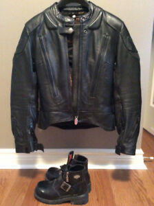 Unisex Black Leather Motorcycle Jacket