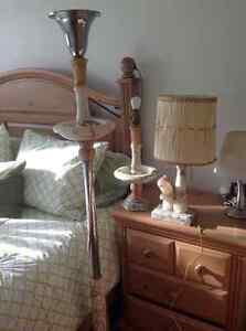 (3) Lampes en marbre
