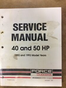 SHOP MANUAL FORCE 40 AND 50 HP
