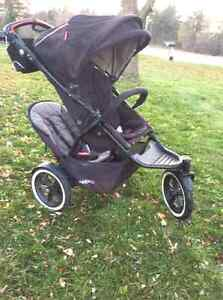 Phil and Teds Navigator double stroller with lots accessories