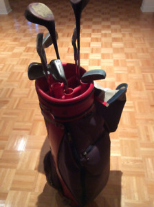 GOLF BAG AND COMPLETE SET FOR MEN IN VERY GOOD CONDITION