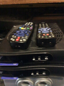 2 bell receivers with dish