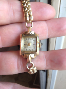 "Gendis Geneva antique watch ""17 jewels"" gold plated..circa 1940"