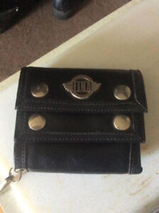 HARLEY STYLE LEATHER WALLET( FINA) WITH CHAIN