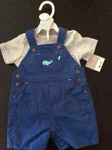 Carters boys overall set, 9 months, brand new with tags