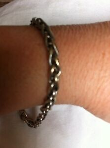 Men's 10kt white gold bracelet 5.79 grams $120.00