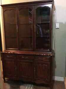 Solid Cherrywood china cabinet