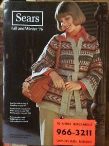 Sears Catalogue Fall and Winter 1976