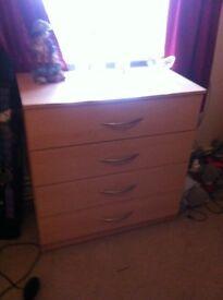 Beech effect drawers